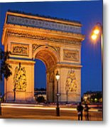 Twilight At Arc De Triomphe Metal Print