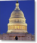Twilight Over Us Capitol Metal Print