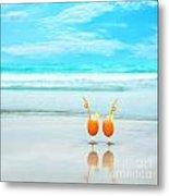 Two Glasses Of Orange Juice Metal Print