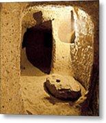 Underground Caves Derinkuyu Metal Print