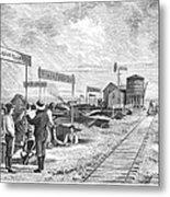 Underground Village, 1874 Metal Print