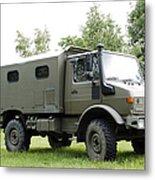 Unimog Truck Of The Belgian Army Metal Print