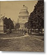 United States Capitol Building In 1863 Metal Print
