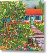 Up The Garden Path Metal Print