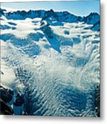 Upper Level Of Fox Glacier In New Zealand Metal Print