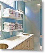 Upscale Bathroom Interior Metal Print