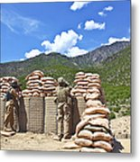 U.s. Army Soldier And An Afghan Metal Print