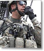 U.s. Army Soldier Communicates Metal Print