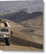 U.s. Army Soldier Provides Security Metal Print