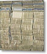 Us Cash Bundles Metal Print