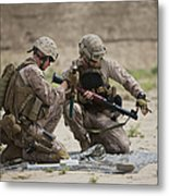 U.s. Marines Prepare A Fragmentation Metal Print