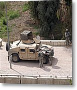 U.s. Military Soldiers Take A Well Metal Print by Terry Moore