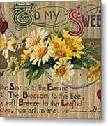 Valentines Day Card, 1910 Metal Print
