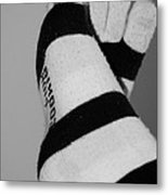 Val's Feet In Black And White Metal Print