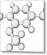 Vanillin Molecule Metal Print