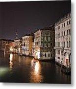 Venice By Night Metal Print