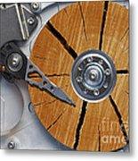 Very Old Hard Disc Metal Print by Michal Boubin