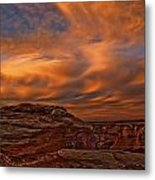Vibrant Sunset Over The Rim Of Canyon Metal Print