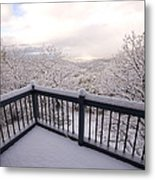 View From A Deck After A Recent Snow Metal Print