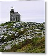 View Of Lighthouse, Rose Blanche Metal Print