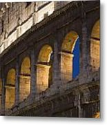 View Of The Roman Coliseum In Rome Metal Print