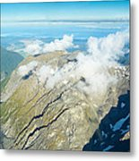 View On To Fox Glacier In South New Zealand Metal Print