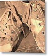 Vintage Sneakers Metal Print