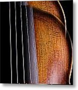 Violin Isolated On Black Metal Print