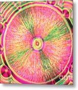 Vitamin C Crystal Metal Print