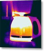 Warming Coffee Machine Metal Print