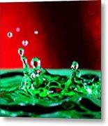 Water Drop Splashing Metal Print