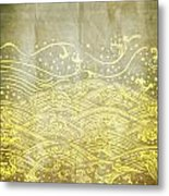 Water Pattern On Old Paper Metal Print