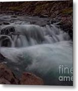 Waterfall  Iceland Metal Print