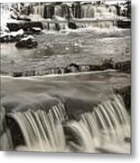 Waterfalls With Fresh Snow Thunder Bay Metal Print