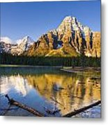 Waterfowl Lakes And Mount Chephren Metal Print