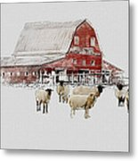 Weatherbury Farm Metal Print