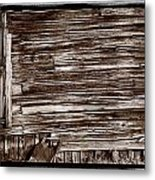Weathered Wall In Bodie Ghost Town Metal Print
