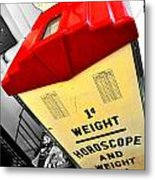 Weight Scale Metal Print