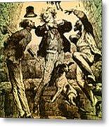 Weightlessness, 19th Century Metal Print