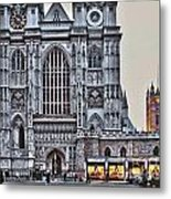 Westminster Abbey And  Victoria Tower Metal Print
