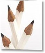 White Pencils Metal Print