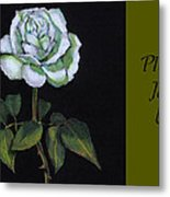 White Rose Invitation Card Metal Print