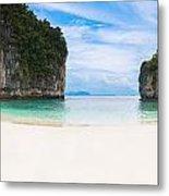 White Sandy Beach In Thailand Metal Print