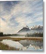 Whitegoat Lake And Mount Elliot Metal Print