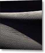 Wind-rippled Sand Dunes In Death Valley Metal Print
