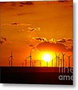 Wind Turbines Metal Print by Gabriela Insuratelu