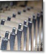 Wine Barrels In Line Metal Print