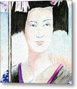 Winter Geisha Metal Print