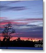 Winter Set Metal Print