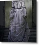 Woman On Steps Metal Print by Joana Kruse